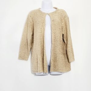 F+F Womens sparkling gold Cardigan sweater